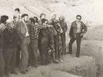 Пенджикент, 1977. Справа налево Л.Ашбаум, В.А.Лившиц, Б.А.Литвинский, Н.Б.Немцева, К.Акишев.